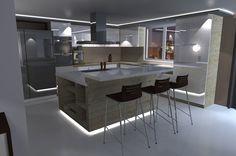 Urban Apartment - White Gloss Kitchen