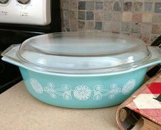 Vintage Rare Pyrex Lace Medallion Covered Cinderella Casserole