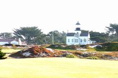 'Point Pinos Lighthouse' http://fineartamerica.com/featured/point-pinos-lighthouse-jen-vermaas.html?newartwork=true #lighthouse #point #pinos #golf #course #ocean #scenery #photography #monterey #17 #mile #drive #outdoor #california #west #coast