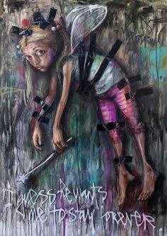 Artist : Herakut. #herakut http://www.widewalls.ch/artist/herakut/
