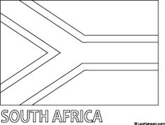 African flag line art of official South Africa national flag printable colouring sheet. Around The World In 80 Days, We Are The World, Flags Of The World, Freedom Day South Africa, Africa Craft, South African Flag, Africa Flag, Flag Coloring Pages, Flag Colors