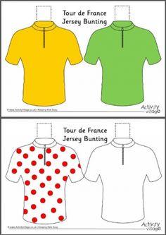 Tour de France Jersey Bunting