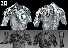 3D Printable Model: Mark XLII Inner Parts Armor (Model: MK 42 Inside Suit) from Iron Man 3 (2013) | Print File Format: STL – Do3D.com Iron Man Suit, Iron Man Armor, Iron Man 3, Iron Man Fan Art, Soldier Costume, 3d Printable Models, Stark Industries, Futuristic Armour, Cool Robots