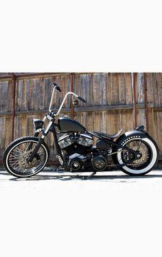 2007 Custom Built Harley Davidson Bobber Motorcycle with Suicide Shift
