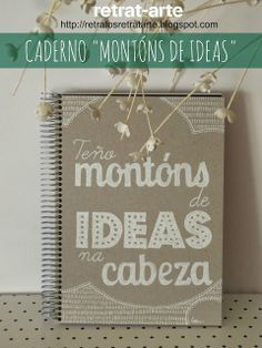 "Cuaderno ""Teño montóns de ideas na cabeza"" / Notebook: I have lots of ideas in my head (Galician version)"