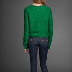 Womens Arielle Cropped Sweater | Womens Sweaters | Abercrombie.com