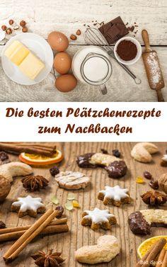 Plätzchenrezepte zum Nachbacken - mit sinem Rezept für Husarenkrapfen, Florentiner und viele Plätzchen mehr German Cookies, Stuffed Mushrooms, Sweets, Vegetables, La Mode, Xmas, Food Food, Backen, Deko