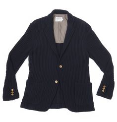 Chunky Knit Blazer-Navy