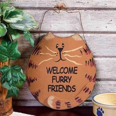 Welcome Furry Friends Sign – Baubles-N-Bling