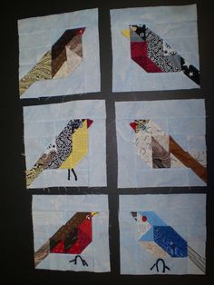 Paper pieced birds