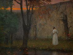 Autumn Sunset - Jakub Schikaneder  1910
