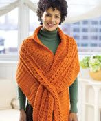 Slit Wrap by The Button Jar, via Flickr On Ravalry. Using Lion Brand Tweed Stripes in Caramel. For Trisha Casner.