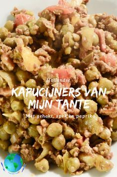 Dutch Recipes, Cooking Recipes, Kiss The Cook, Potato Salad, Casserole, Salads, Beans, Food And Drink, Appetizers