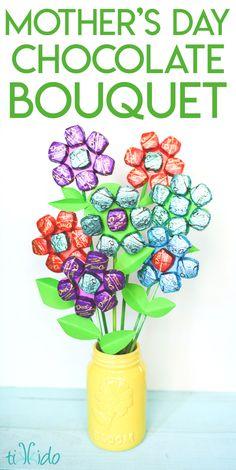 Delicious Dark Chocolate Mother's Day Bouquet Tutorial | Tikkido.com