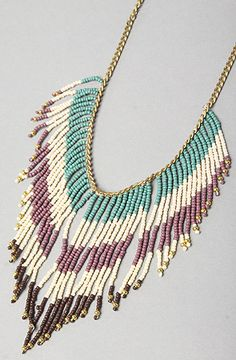 *Accessories Boutique The Bead Fringe Necklace