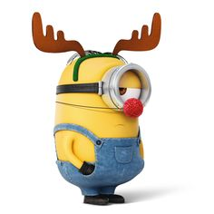 Stuart dressed up for Christmas. He wasn't happy about it.   Minions Movie   In Theaters July 10th