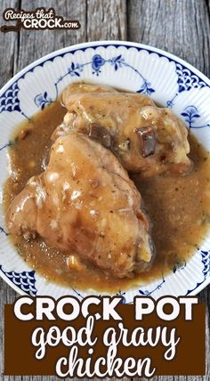 Crock Pot Good Gravy Chicken Recipe This Crock Pot Good Gravy Chicken will have everyone licking their lips and asking for more! And better yet, it is so easy to put together! Crockpot Dishes, Crock Pot Slow Cooker, Crock Pot Cooking, Easy Cooking, Slow Cooker Recipes, Crockpot Recipes, Cooking Recipes, Crock Pots, Slow Cooker Chicken