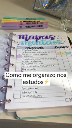 School Organization Notes, Study Organization, School Notes, Studyblr, Planning School, Life Hacks For School, Study Planner, Lettering Tutorial, Study Inspiration