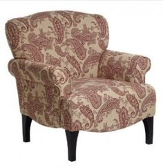 A classic paisley pattern graces the simple elegance of this upholstered arm chair. Style # at Lamps Plus. Decor, Stylish Home Decor, Stylish Decor, Chair, Style Guide Design, Indoor Chairs, Upholstered Arm Chair, Cool Chairs, Paisley Chair