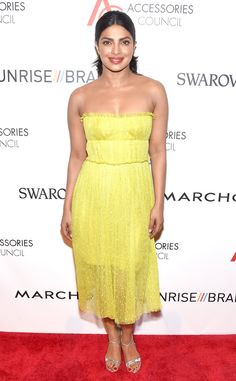 ACE Awards from Party Pics: New York  Quantico star Priyanka Chopra looks summer sweet in her yellow dress.