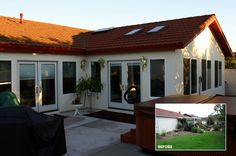 Before and after home renovation by Murray Lampert