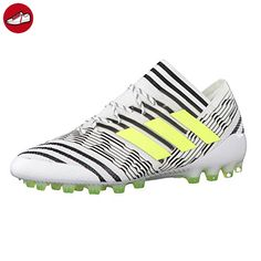 Nemeziz 17.1 AG, Chaussures de Football Homme, Blanc (Footwear White/Solar Yellow/Core Black), 42 2/3 EUadidas