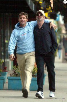 George Michael et Kenny Goss à Hollywood, le 16 janvier 2002.