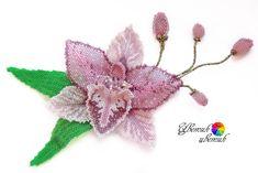 "Заколка ""Орхидея"" | biser.info - всё о бисере и бисерном творчестве"