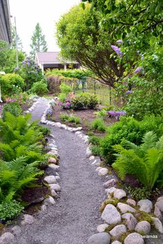Coming across rock landscaping ideas backyard can be a bit hard but designing a rock garden is one of the most fun and creative forms of Backyard Walkway, Backyard Trampoline, Hillside Landscaping, Landscaping With Rocks, Landscaping Ideas, Mailbox Landscaping, Landscape Design, Garden Design, Garden Paths