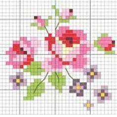 rose cross stich pattern:
