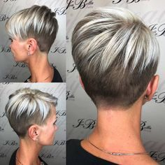 Today we have the most stylish 86 Cute Short Pixie Haircuts. We claim that you have never seen such elegant and eye-catching short hairstyles before. Pixie haircut, of course, offers a lot of options for the hair of the ladies'… Continue Reading → Super Short Hair, Short Grey Hair, Funky Short Hair Styles, Short Hair Cuts For Women Pixie, Fine Hair Pixie Cut, Short Hair Back View, Short Hair Designs, Edgy Pixie Cuts, Short Hair Images