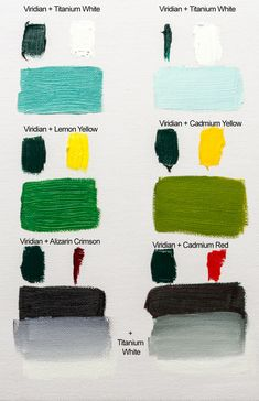 Colour Mixing With Williamsburg Viridian Oil Paint - Jackson's Art Blog