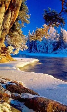 Photo Place: Snow Covered Beach