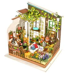 Diy 3d Miniature Assemble Box Theater Creative Toys Building Dollhouse Kits With Funitures For Child Festival Handmade Gifts A Wide Selection Of Colours And Designs Architecture/diy House/mininatures Model Building