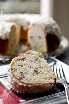 Cherry Almond Cake - uses canned cherries