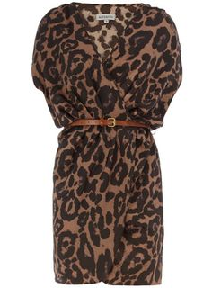 Dorothy Perkins  Animal print crossover dress