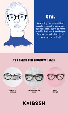 KAIBOSH | Glasses for Oval Face Shapes | Shop glasses now on www.kaibosh.com                                                                                                                                                     More
