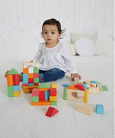 Count, stack, sort and build: these colourful wooden building blocks will inspire hours of fun and creativity.