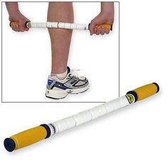 """The Stick is called a """"toothbrush for muscles."""" It is a training tool for runners used to relax and loosen tight or sore muscles. It can be used on many different parts of the body and is used by the athletes of the US Olympic Training Centers."""