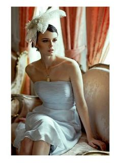 To Have and To Hold | Ruche Bridal Collection lookbook | She kinda looks like the actress Mia Kirshner doesn't she?