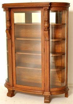Lion Carved Oak China Cabinet - LOT 390 Estimate: $500 - $750 ...