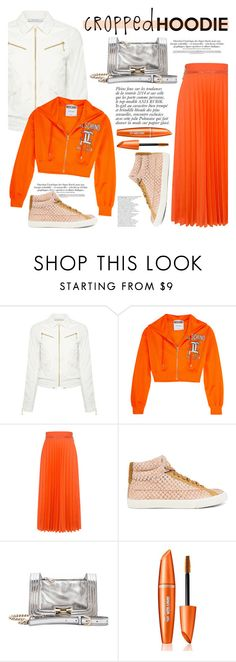 """""""Cute Trend: Cropped Hoodies"""" by ifchic ❤ liked on Polyvore featuring Moschino, Veja, Mohzy, Anja, contestentry, CroppedHoodie and ifchic"""
