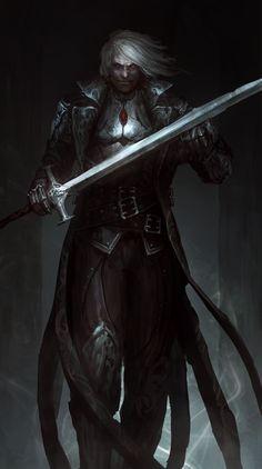 dungeons and dragons npc ideas \ npc ideas ; d&d npc ideas ; dungeons and dragons npc ideas ; Dark Fantasy Art, Fantasy Artwork, Fantasy Kunst, Fantasy Rpg, Medieval Fantasy, Vampire Knight, Art Vampire, Evil Knight, Knight Sword