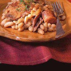 Cassoulet   Ricardo Ricardo Recipe, Navy Bean, Lard, White Beans, Pork Chops, Bon Appetit, Tofu, Celery, Cravings
