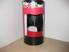 Oatmeal-y: Oatmeal Container to Finger Puppet Theater