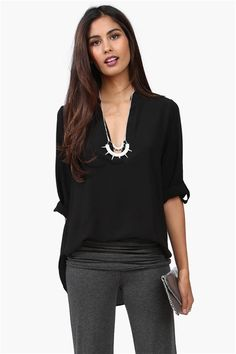 Gilly Blouse in Black @Pascale Lemay De Groof