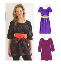 Tunic and Dress ( i'd only make the dress version.) k3538