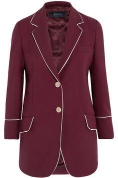 Gucci   Silk-trimmed wool-twill blazer   NET-A-PORTER.COM