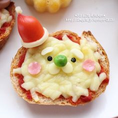 Christmas Recipes, Christmas Time, Holiday, Cute Food, Bento, Pudding, Kawaii, Cartoon, Breakfast