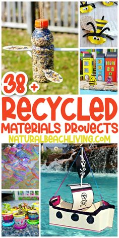 38+ Recycled Materials Projects for Kids - Natural Beach Living